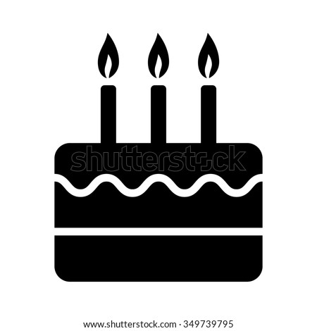 Birthday Celebration Cake With Candles Flat Vector Icon For Apps And Websites