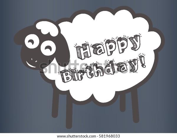 Birthday Celebration Card with Sheep