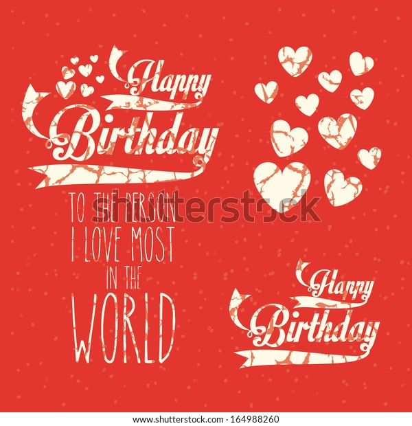 Birthday Design Over Red Background Vector Stock Vector Royalty Free 164988260