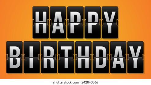 Birthday design over yellow background, vector illustration.