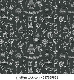 Birthday doodle pattern