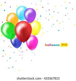 Birthday Garlands and Balloons