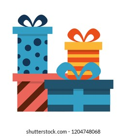 Vector Icon Gift Box Presents Hand Stock Vector Royalty Free