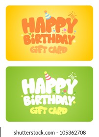 Birthday gift cards design template.