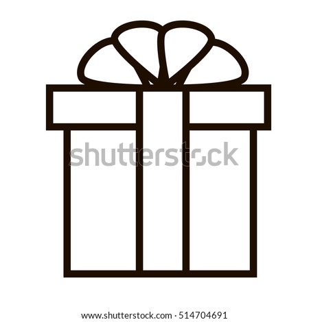 Birthday Gift Christmas Gift Box Ribbon Stock Vector (Royalty Free ...