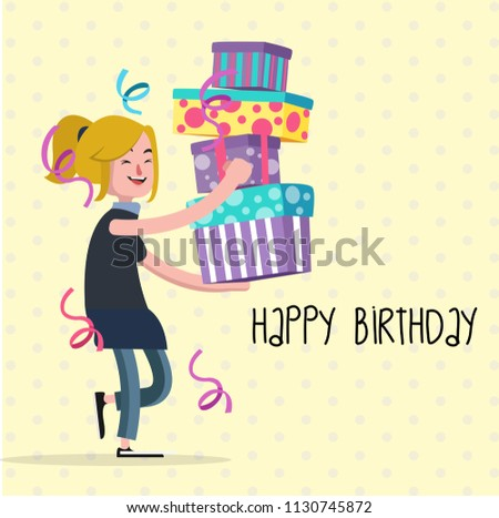 Birthday Greeting Cards Background Stock Vector Royalty Free