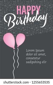 a birthday greeting or invitation card