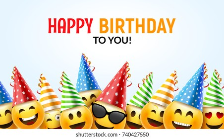 Happy birthday card images stock photos vectors shutterstock birthday happy smile greeting card vector birthday background 3d colorful character design m4hsunfo