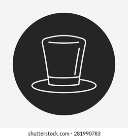 birthday hat line icon