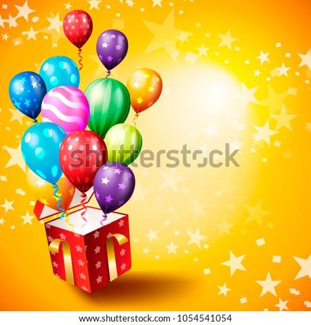 Birthday Invitation Card Birthday Background Stock Vector Royalty