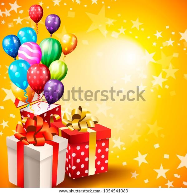 Birthday Invitation Card Birthday Background Stock Vector