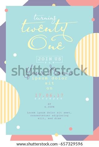 Birthday Invitation Card Design Card Template Image Vectorielle De
