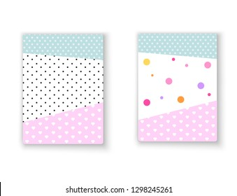 Birthday invitation template .Template for birthday decoration. holiday for girls. lol surprise. Vector illustration. Pink background.