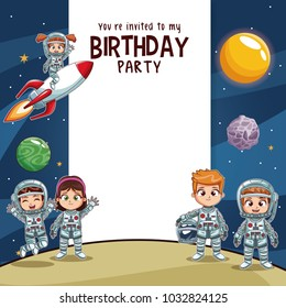 Birthday kids invitation party card