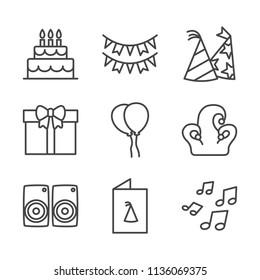 Birthday outline icon