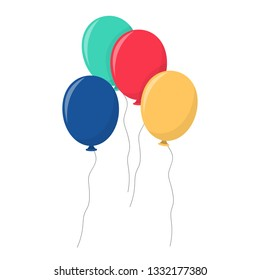 Birthday party ballons vector design illustration isolated on white background