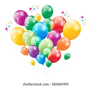Birthday Party Balloon Vector