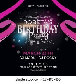Birthday party brochure, poster, card,  flyer design template vector design.