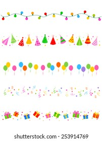 Birthday and party elements divider / frame collection