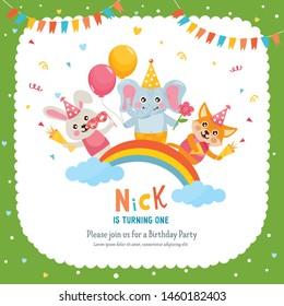 Birthday Invitation Card Kid Stock Vectors Images Vector