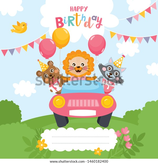 Birthday Party Greeting Card Design Invitation Stock Image