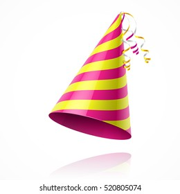 Birthday party hat vector illustration