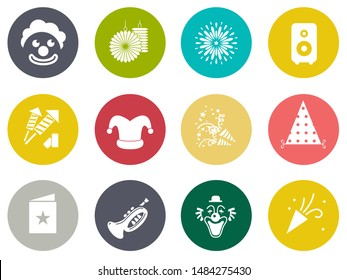 birthday party Icons - vector celebration icons, event icons, happy birthday party