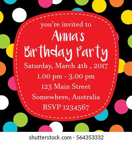 birthday party invitation images stock photos vectors shutterstock