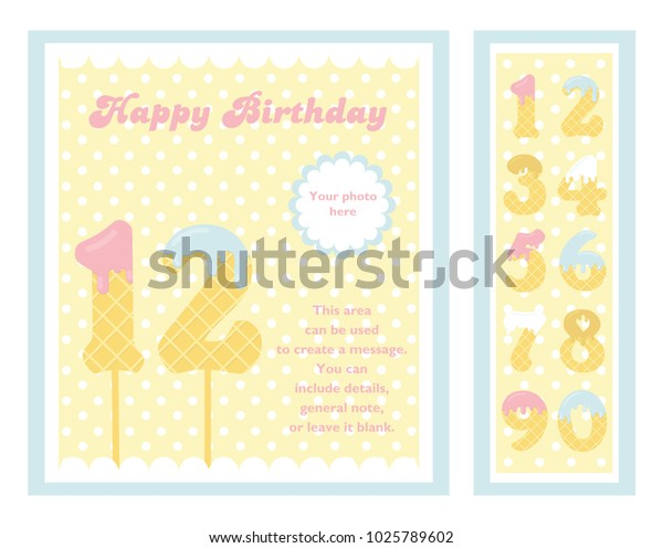 Birthday Party Invitation Card Numbers Vector Stock Vector ...
