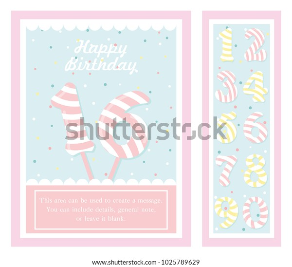 Birthday Party Invitation Card Numbers Vector | Holidays Stock Image