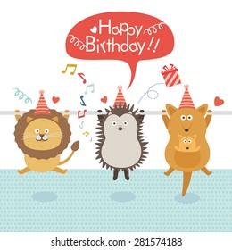 birthday party.illustration