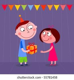Birthday present - vector