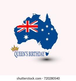 The birthday of Queen's Australia