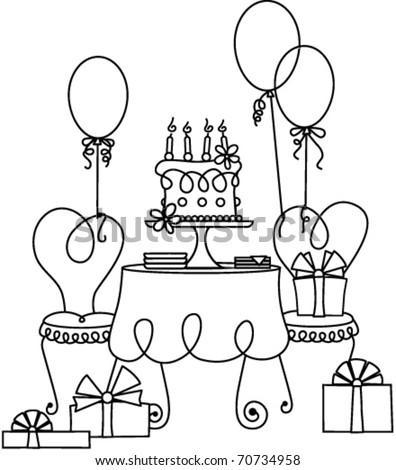 Birthday Scene Stock Vector Royalty Free 70734958