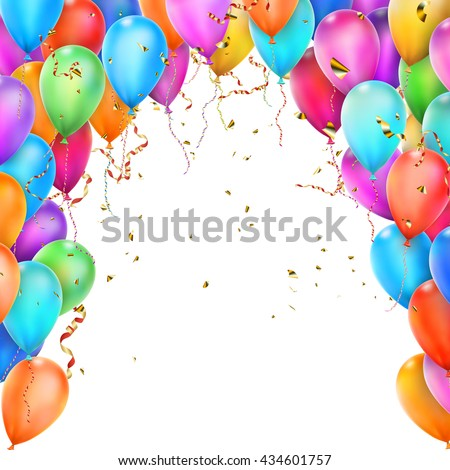 birthday template flying balloons eps 10 stock vector royalty free