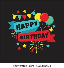 Birthday template vector design eps