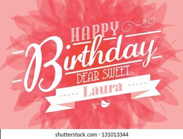 birthday template vector/illustration