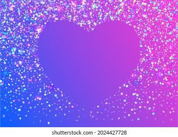 Birthday Tinsel. Shiny Flare. Party Festival Serpentine. Glitter Foil. Transparent Texture. Cristal Sparkles. Blue Disco Confetti. Festive Art. Pink Birthday Tinsel