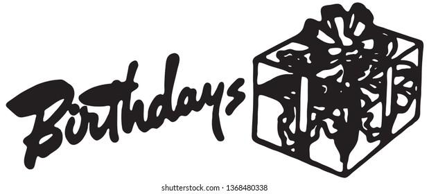 Birthdays - Retro Ad Art Banner