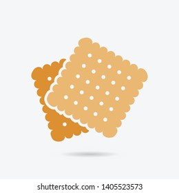 Biscuit, cookie color vector icon. Element of kitchen for mobile apps illustration. Biscuit flat icon for website design and development.