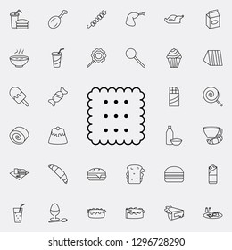 biscuit icon. Fast food icons universal set for web and mobile