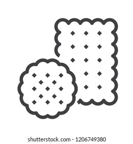 Biscuit vector icon