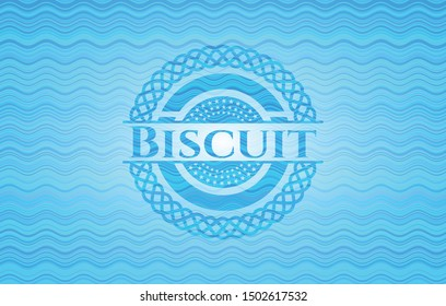 Biscuit water representation style badge. Vector Illustration. Detailed.