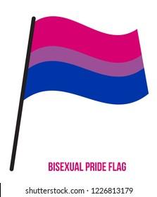 Bisexual Pride Flag Designed with Correct Color Scheme. Symbol of Bisexual Community.