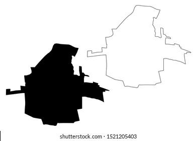 Bishkek City Region (Kyrgyz Republic, Kirghizia, Regions of Kyrgyzstan) map vector illustration, scribble sketch Pishpek, Frunze map