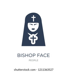 Bishop face icon. Trendy flat vector Bishop face icon on white background from People collection, vector illustration can be use for web and mobile, eps10