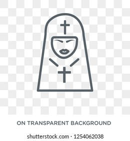 Bishop face icon. Trendy flat vector Bishop face icon on transparent background from People collection. High quality filled Bishop face symbol use for web and mobile