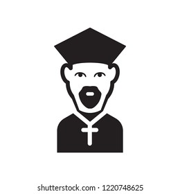 Bishop face icon. Trendy Bishop face logo concept on white background from People collection. Suitable for use on web apps, mobile apps and print media.