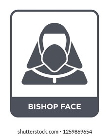 bishop face icon vector on white background, bishop face trendy filled icons from People collection, bishop face simple element illustration