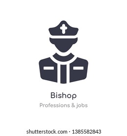 bishop icon. isolated bishop icon vector illustration from professions & jobs collection. editable sing symbol can be use for web site and mobile app